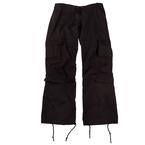 Rothco - Women's Vintage Paratrooper Black Fatigue Pants
