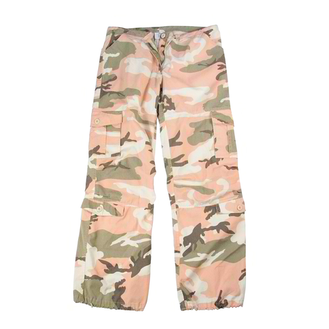 Rothco - Women's Vintage Paratrooper Subdued Pink Camo Fatigue Pants