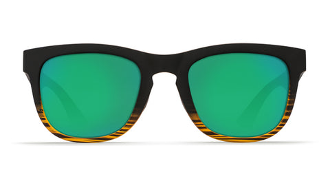 Costa - Copra  Matte Coconut Fade Sunglasses / Green Polarized Glass Lenses
