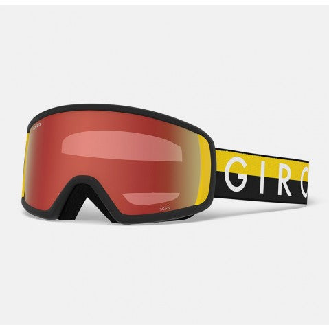 Giro - Scan Black + Yellow Throwback Snow Goggles / Ultra Black Lenses