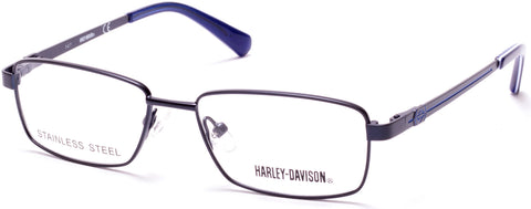 Harley-Davidson - HD0134T Matte Blue Eyeglasses / Demo Lenses