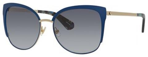 Kate Spade - Genice S Blue Havana Sunglasses / Dark Gray Gradient Lenses