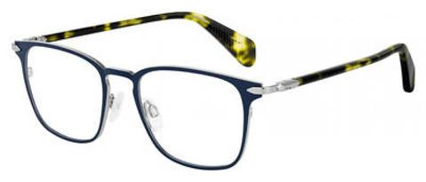 Rag & Bone - Rnb 7015 Matte Blue Eyeglasses / Demo Lenses