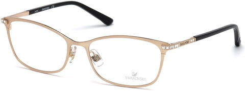 Swarovski - SK5187 Goldie 54mm Matte Rose Gold Eyeglasses / Demo Lenses