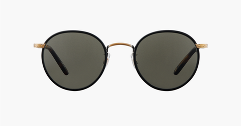 Garrett Leight - Wilson 49mm Matte Black Matte Spotted Tortoise Sunglasses / Pure Grey Lenses