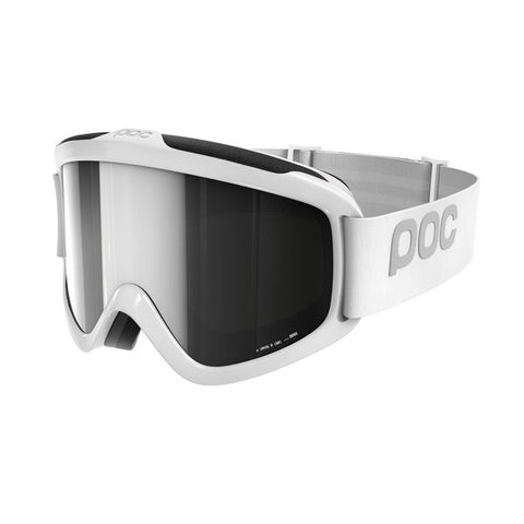 POC - Iris X Small Hydrogen White Snow Goggles / Black Mirror Lenses