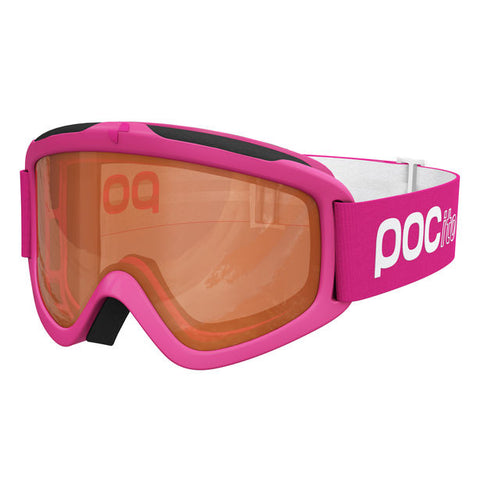 POC - POCito Iris Fluorescent Pink Snow Goggles / Brown Mirror Lenses