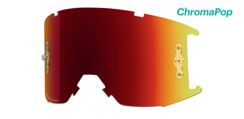 Smith - Squad XL MTB Chromapop Sun Red Mirror MX Goggle Replacement Lens