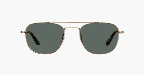 Garrett Leight - Club House Antique Gold Dark Wave Rock Sunglasses / Semi Flat G15 Lenses