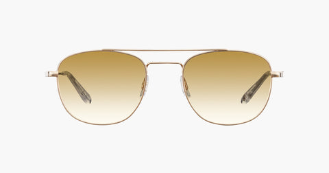 Garrett Leight - Club House Gold Crystal Sunglasses / Semi Flat Cappuccino Gradient Lenses