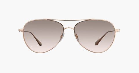 Garrett Leight - Culver Rose Gold Sunglasses / Semi Flat Pink Haze Mirror Lenses