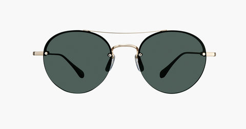 Garrett Leight - Beaumont Gold Hazel Sunglasses / G15 Lenses