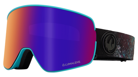 Dragon - NFX2 LL Abalone Snow Goggles / Purple Ion + Amber Lenses