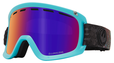 Dragon - D1 OTG Abalone Snow Goggles / Purple Ion + Amber Lenses