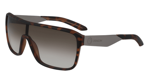 Dragon - Amp LL 61mm Matte Tortoise Sunglasses / Lumalens Brown Gradient Lenses