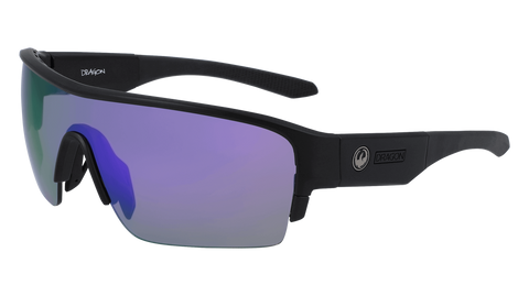 Dragon - Tracer X LL 61mm Matte Black Sunglasses / Lumalens Violet Ion Lenses