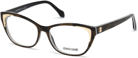 Roberto Cavalli - RC5033 Capannori Colored Havana Eyeglasses / Demo Lenses