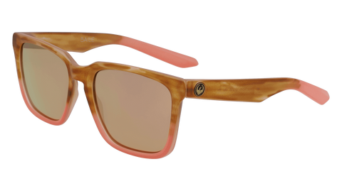 Dragon - Baile LL 54mm Sunset Horn Sunglasses / Lumalens Rose Gold Ion Lenses
