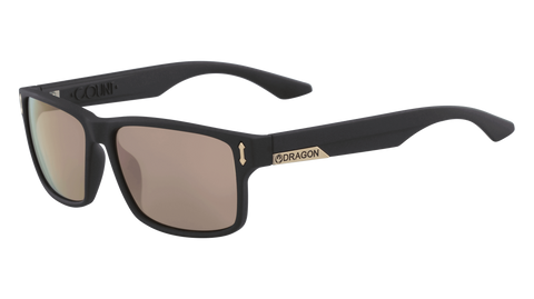 Dragon - DR512SI LL Count 58mm Matte Black Sunglasses / Rose Gold Ion Lenses