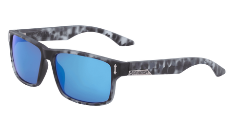 Dragon - DR512SI LL Count 58mm Matte Midnight Tortoise Sunglasses / Blue Ion Lenses