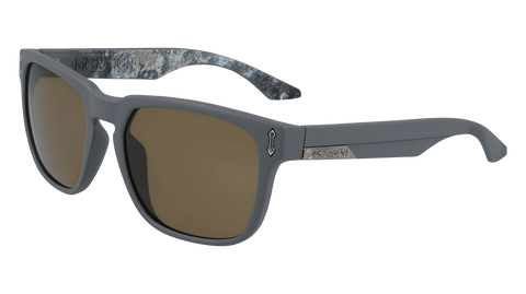 Dragon - Monarch LL 55mm Matte Grey Galaxy Sunglasses / Lumalens Brown Lenses