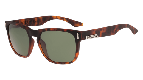 Dragon - Monarch LL 55mm Matte Tortoise Sunglasses / Lumalens G15 Lenses