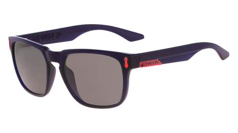 Dragon - Monarch LL 55mm Crystal Navy Sunglasses / Lumalens Smoke Lenses