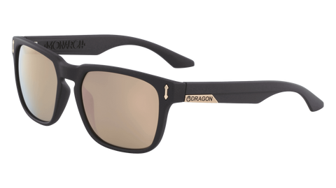 Dragon - Monarch LL 55mm Matte Black Sunglasses / Lumalens Rose Gold Lenses