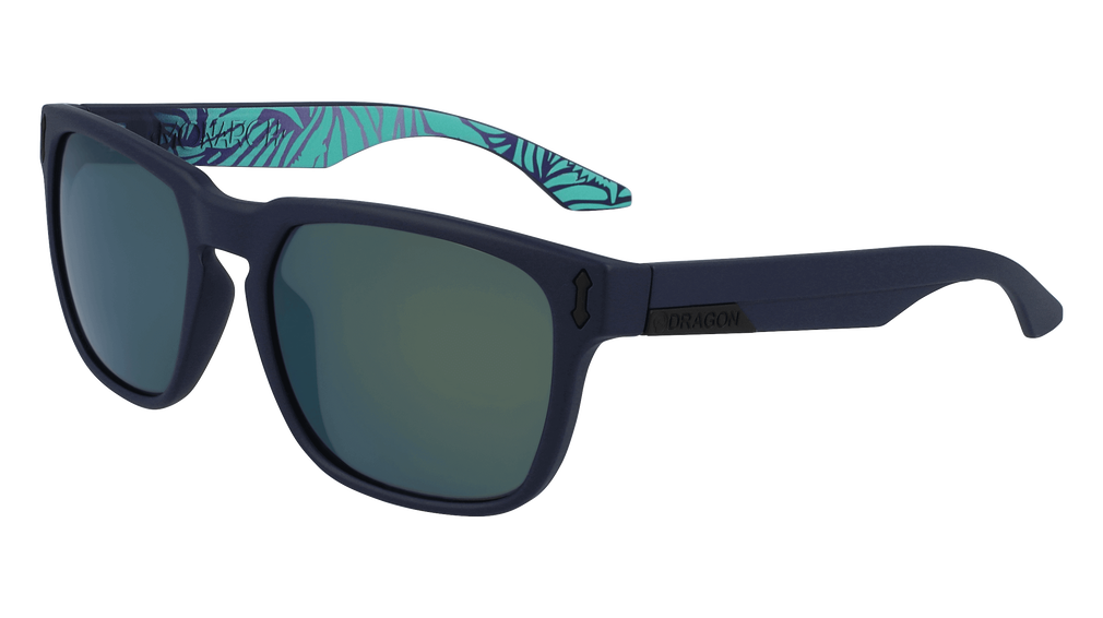 Dragon - Monarch LL 55mm Matte Navy Tropics Sunglasses / Lumalens SM Petrol Ion Lenses