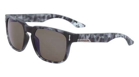 Dragon - Monarch LL 55mm Matte Midnight Tortoise Sunglasses / Lumalens Blue Ion Lenses