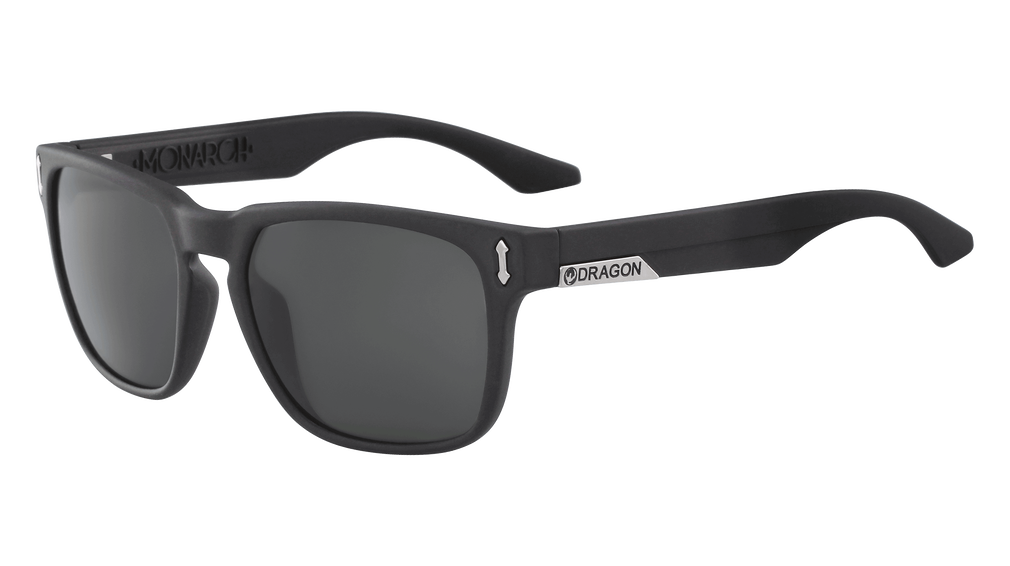 Dragon - Monarch LL 55mm Jet Sunglasses / Lumalens Smoke Polarized Lenses