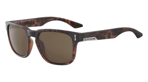 Dragon - Monarch LL 55mm Matte Tortoise Sunglasses / Lumalens Brown Polarized Lenses