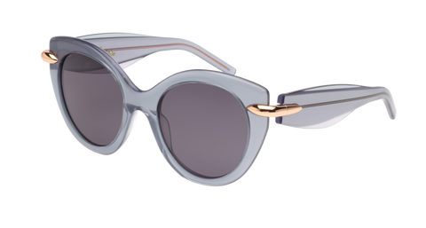 Pomellato - PM0004S 50mm Green Sunglasses / Violet Bronze Lenses