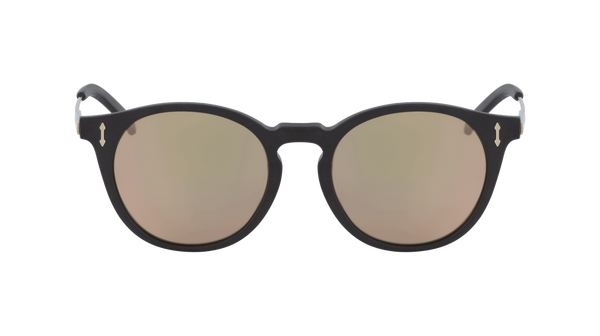 Dragon - Hype LL 51mm Matte Black Sunglasses / Lumalens Rose Gold Ion Lenses