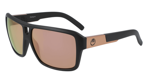 Dragon - The Jam LL 60mm Matte Black Sunglasses / Lumalens Rose Gold Ion Lenses