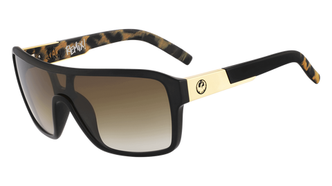Dragon - Remix LL 60mm Leopard Safari Sunglasses / Lumalens Brown Gradient Lenses
