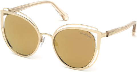 Roberto Cavalli - RC1095 Montieri Gold Sunglasses / Brown Mirror Lenses