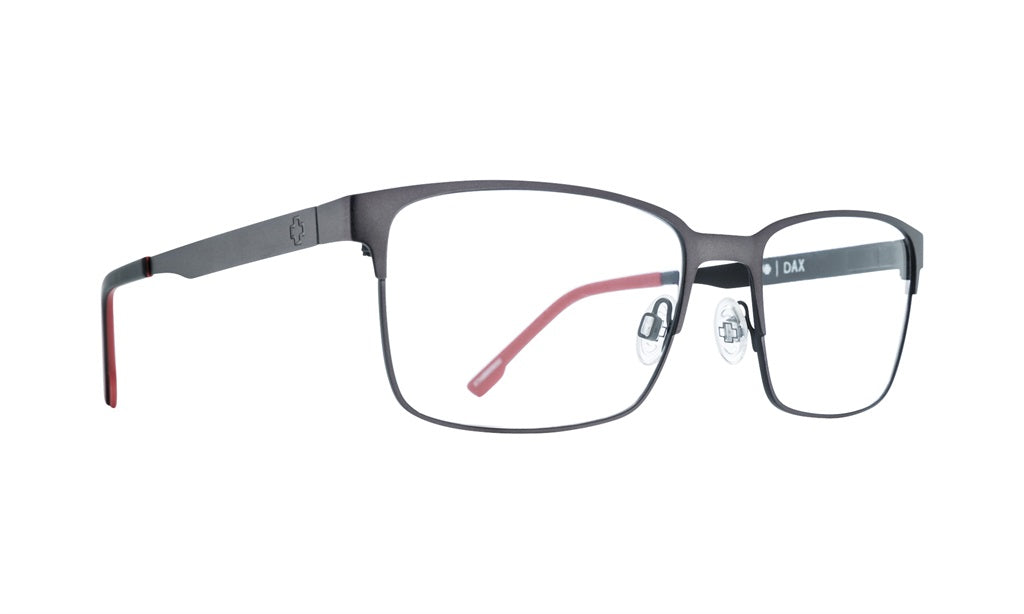 Spy - Dax Gunmetal + Black Red Eyeglasses / Demo Lenses