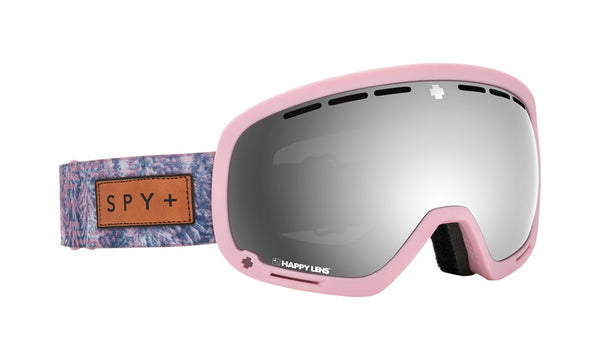 Spy - Marshall Native Nature Pink Snow Goggles / Happy Gray Green with Silver Spectra + Happy Yellow with Lucid Green Lenses
