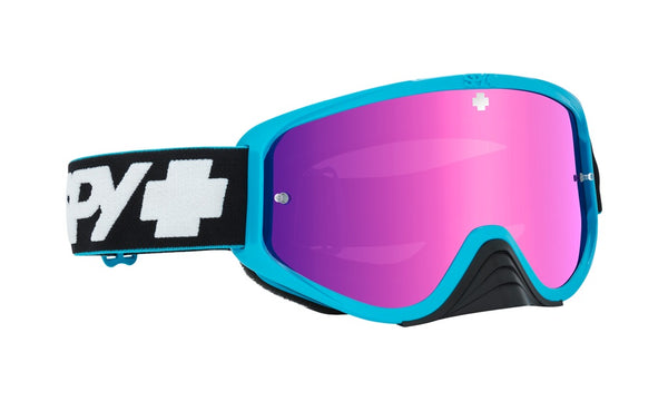 b893029788 Spy - Woot Race Slice Blue MX Goggles   Smoke + Pink Spectra + Clear Lenses  ...