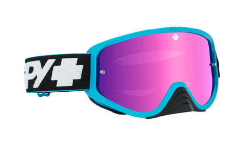 Spy - Woot Race Slice Blue MX Goggles / Smoke + Pink Spectra + Clear Lenses