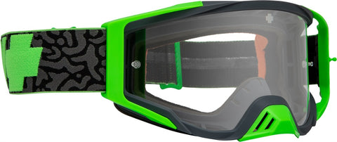 Spy - Foundation Maze Green MX Goggles / Clear HD Lenses