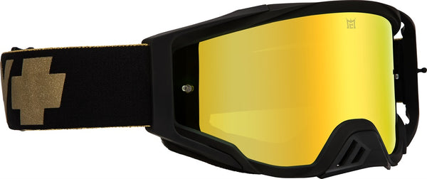 Spy - Foundation Black + Gold MX Goggles / Bronze HD + Gold Spectra + Clear Lenses