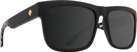 Spy - Discord Matte Black Leopard Fade Sunglasses / Happy Gray Green + Silver Flash Lenses