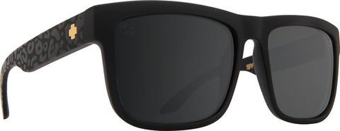 Spy - Discord Matte Black Leopard Sunglasses / Happy Gray Green + Silver Flash Lenses