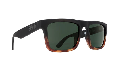 Spy - Atlas Soft Matte Black + Fade Tortoise Sunglasses / Happy Gray Green Lenses