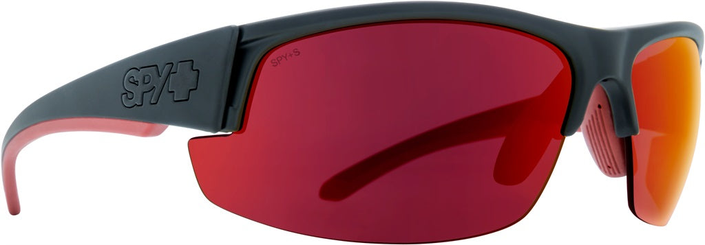 Spy - Sprinter Matte Black Ansi Rx Sunglasses / Happy Gray Green + Red Flash Lenses