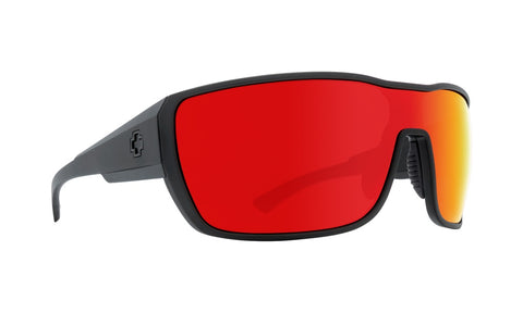 Spy - Tron 2 Matte Black Sunglasses / Happy Gray Green + Red Spectra Lenses