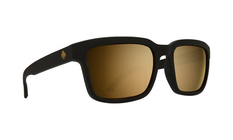 Spy - Helm 2 Matte Black Sunglasses / Happy Bronze + Gold Spectra Lenses