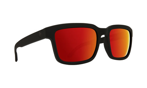 Spy - Helm 2 Soft Matte Black Sunglasses / Happy Gray Green + Red Spectra Lenses